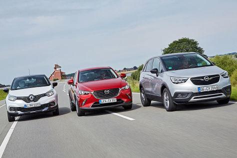 Mazda CX-3 Opel Crossland X Renault Captur
