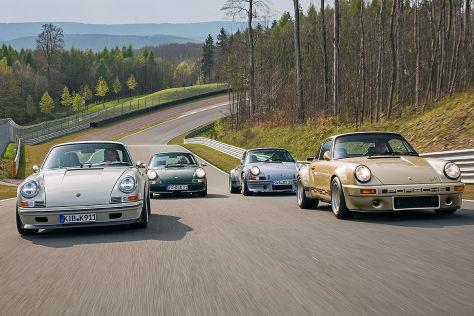 Vier deutsche Retro-Elfer im Vergleich