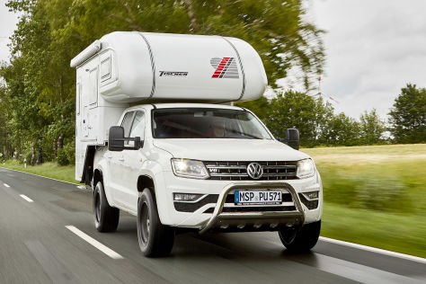vw amarok mit tischer kabine 230 s wohnmobil test. Black Bedroom Furniture Sets. Home Design Ideas