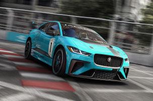 Jedermann-Rennen mit Elektro-Jaguar