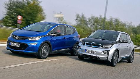 BMW i3/Opel Ampera-e: Test