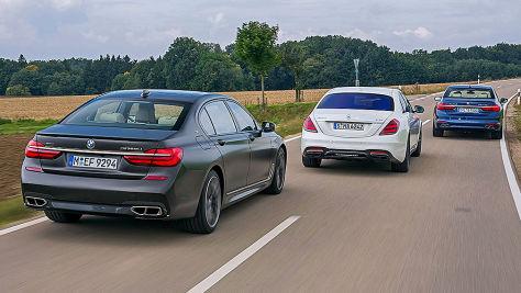 Alpina B7 Biturbo/BMW M760iL/Mercedes-AMG S 63: Test