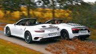 Audi R8 V10 Plus Spyder/Porsche 911 Turbo S Cabrio: Test