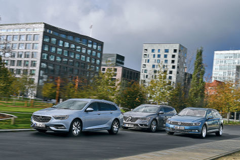 Opel Insignia Sports Tourer Renault Talisman Grandtour VW Passat Variant