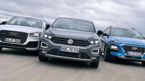 Audi Q2/Hyundai Kona/VW T-Roc: Test