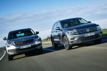 Skoda Kodiaq/VW Tiguan Allspace: Test