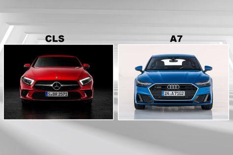 Audi A7/Mercedes CLS: Vergleich