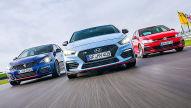 Hyundai i30 N/Peugeot 308 GTi/VW Golf GTI: Test