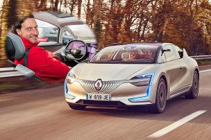 Fahrt im autonomen Renault