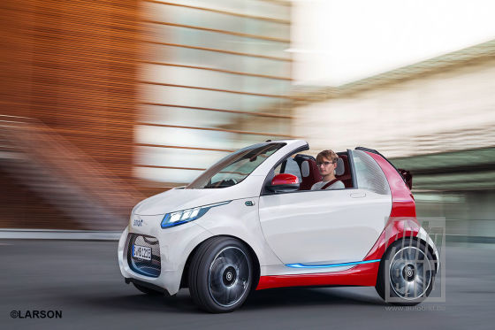 smart cabrio electric drive facelift  vorschau autobildde