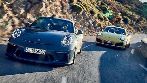 Porsche 911 GT3 Touring/Porsche 911 T: Test