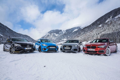 Audi RS 3 BMW M140i Ford Focus RS Mercedes-AMG A 45