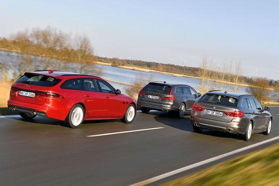 BMW 5er Touring Jaguar XF Sportbrake Volvo V90