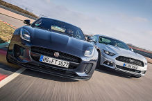 Ford Mustang Ecoboost/Jaguar F-Type P300: Test