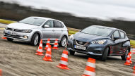 Nissan Micra und VW Polo mit Basismotor: Test