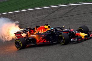 Renault-Motor in Flammen