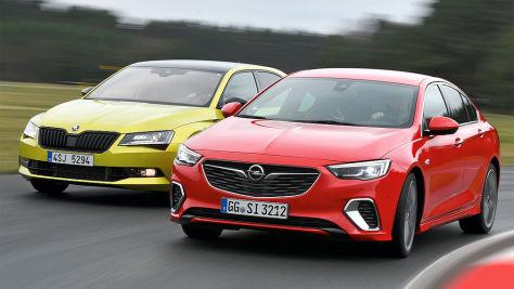 Opel Insignia GSi/Skoda Superb 2.0 TSI: Test