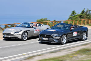 V8-Cabrios im Duell