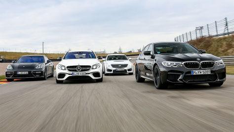 BMW M5/Cadillac CTS-V/Mercedes-AMG E 63 S/Porsche Panamera Turbo: Test