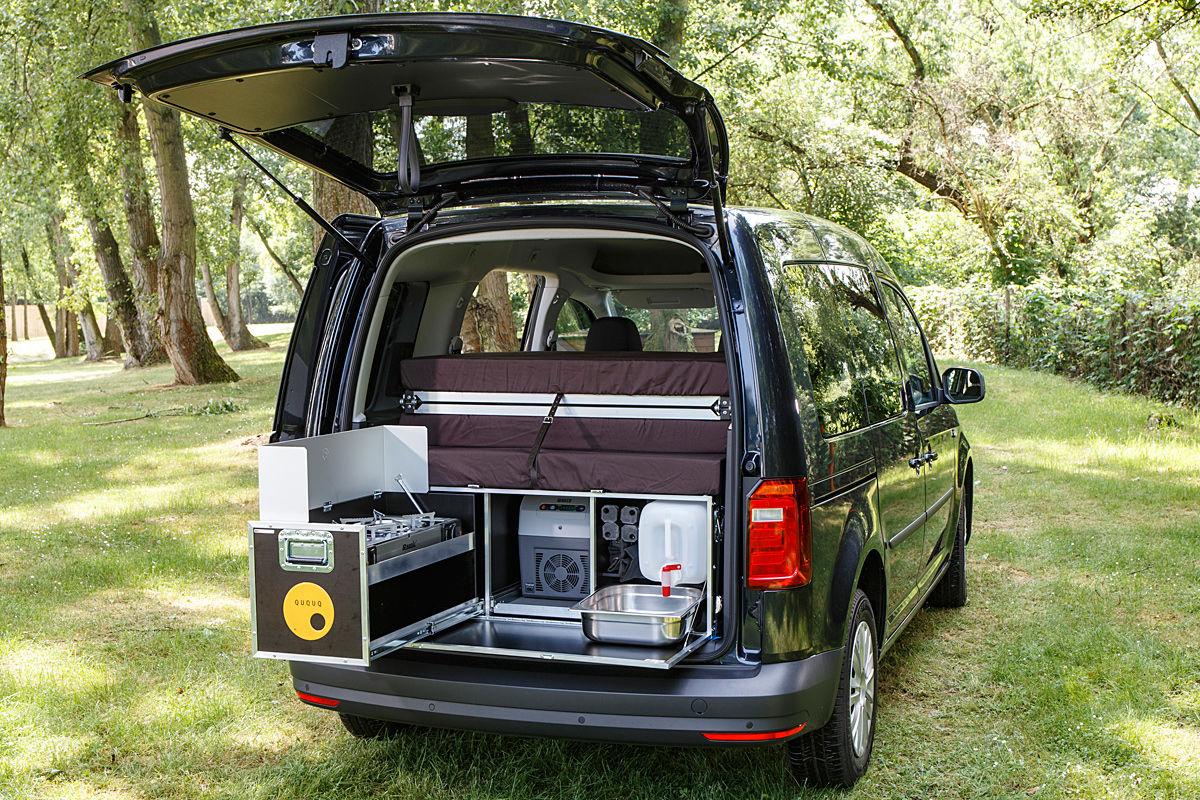 ququq campingbox im vw caddy bilder. Black Bedroom Furniture Sets. Home Design Ideas