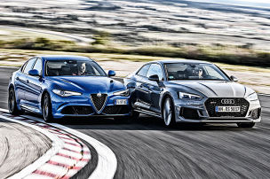 Alfa Giulia Quadrifoglio/Audi RS 5: Test