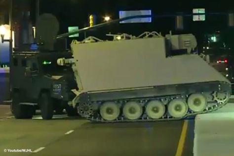 Mann klaut Panzer - rast 60 Meilen durch Virginia
