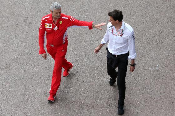 Ferrari & Mercedes