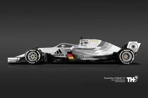 Formel 1: Fußball-Lackierungen