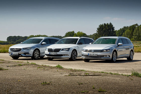 Opel Insignia Sports Tourer Skoda Superb Combi VW Passat Variant