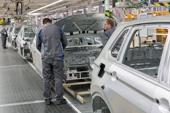 Bänder bei VW stehen zeitweilig still