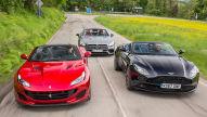 Aston Martin DB11 V8 Volante/Ferrari Portofino/AMG SL 63: V8-Test