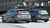 Mercedes A-Klasse/VW Golf: Test