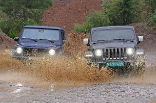 Mercedes G-Klasse/Jeep Wrangler: Test