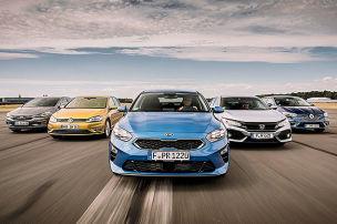 Golf, Ceed, Astra, Civic, Mégane: Kompakte im Test
