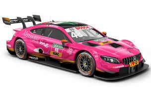 Mercedes in Wassermelonen-Pink