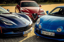Alpine A110/Corvette Z06/Alfa Giulia: Vergleich