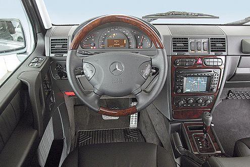 Arbeitsplatz: Der Mercedes G 320 CDI verlangt nach einer harten Hand.