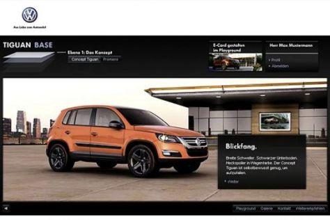 VW Tiguan im Internet