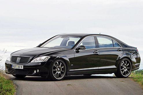 Schwarze Schönheit: Mercedes S 500 im Brabus-Trimm.