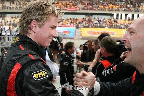 Nico Hülkenberg hat gut lachen: Der A1GP-Weltmeistertitel ist sicher.