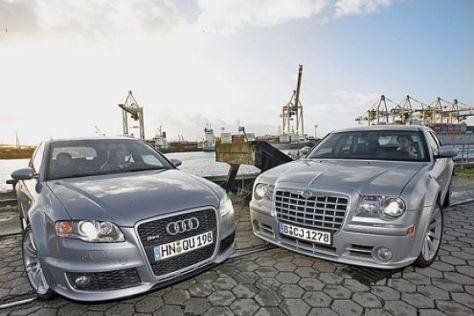 Test Audi RS4 Avant/Chrysler 300C SRT8