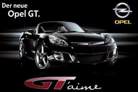Autowerbung zum Opel GT