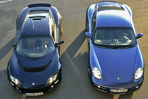 Vor einer solchen Entscheidung steht man gerne: Lotus oder Porsche?