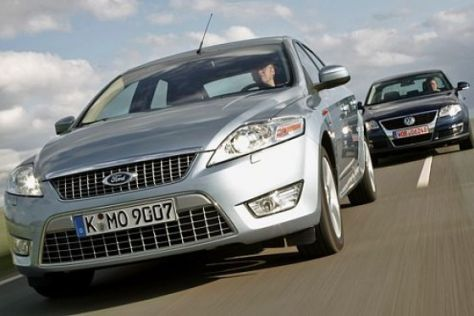 Test Ford Mondeo/VW Passat