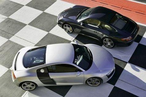 Audi R8 und Porsche 911