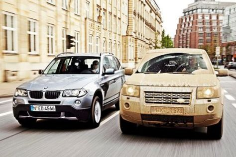 Test BMW X3/Land Rover Freelander