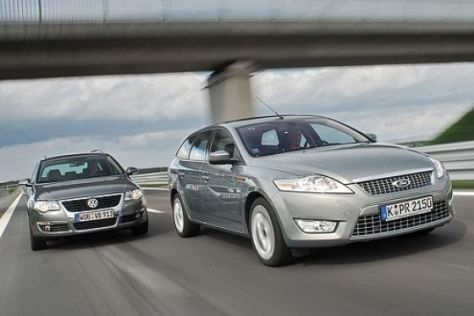 Test Ford Mondeo Turnier/VW Passat Variant