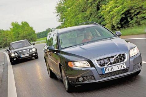 Test Volvo V70 D5/Mercedes E 280 CDI T