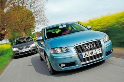 Test Audi A3 Sportback 1.9 TDI e/VW Golf TDI