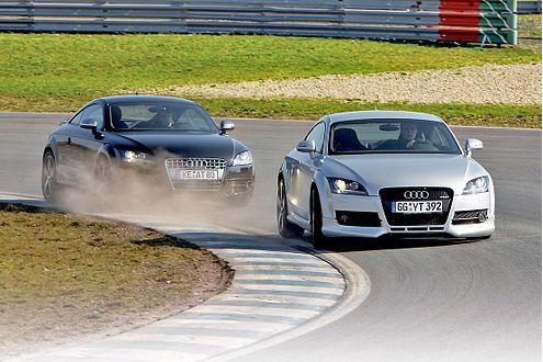 Monströse Moskitos: Der beiden Audi TT von Abt und Oettinger.